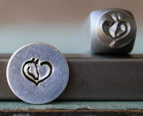 (Brand New 6mm Horse Heart Metal Punch Design Stamp - Supply Guy - CH-314)