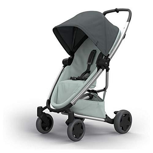 Quinny ZAPP FLEX PLUS Graphite on Grey - Cochecito urbano, flexible y ultracompacto, asiento reclinable bidireccional, de 6 meses a 3.5 anos, grafito y gris