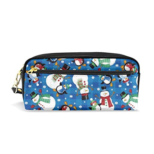 Multifunction Durable Cosmetic Bag Snowman Merry Christmas Pencil Bag Pouch Bag Case Makeup Bag ()