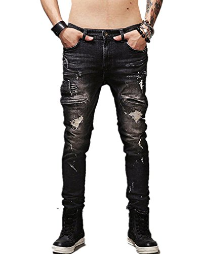 Krralinlin Stretch Distressed Ripped Skinny product image