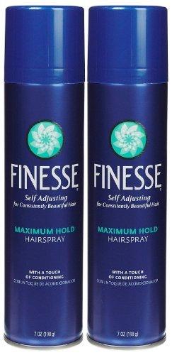 Finesse Maximum Hold Aerosol Hair Spray, 7 oz, 2 pk
