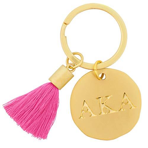(Alexandra And Company Round Tassel Keychain, Kappa Alpha )