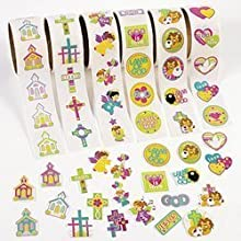 Fun Express Inspirational Stickers on a Roll (600 Piece)
