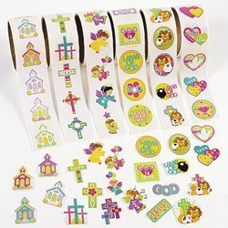 600 Stickers - Fun Express Inspirational Stickers on a Roll (600 Piece)