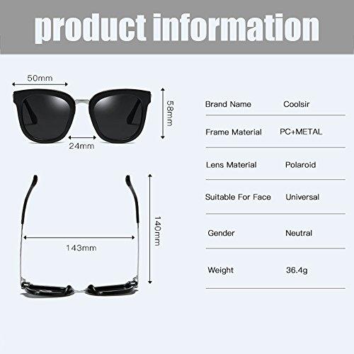 De Gafas Espejo Nuevas Black De Polarizadas Sol Gafas De Gray Sol Gafas Gafas Classic Conducción De Sol Colorful Sports Vintage Outdoor SEEKSUNG® AEn6046