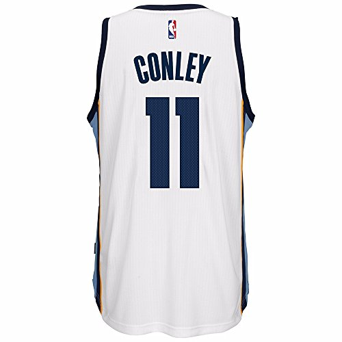 Mike Conley Jr Memphis Grizzlies NBA Adidas White Official Climacool Home Swingman Jersey For Men (XL)
