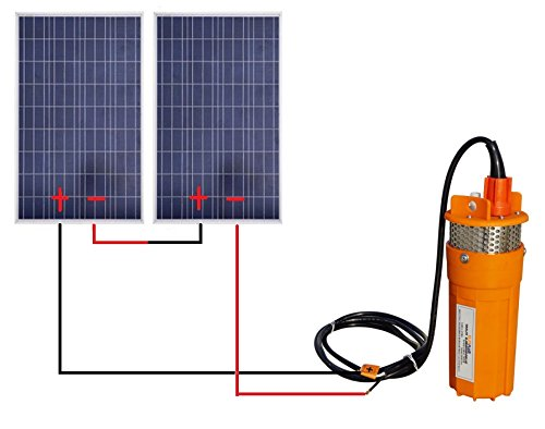 ECO-WORTHY Solar Water Pump Kit with 24V Submersible Well Pump and 2pcs 100W Polycrystalline Solar Panel for Water Fountain by ECO-WORTHY