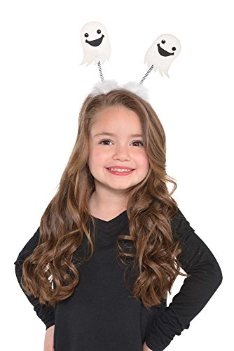 amscan Ghost Head Boppers Fancy Dress Costume Accessory, White, 2