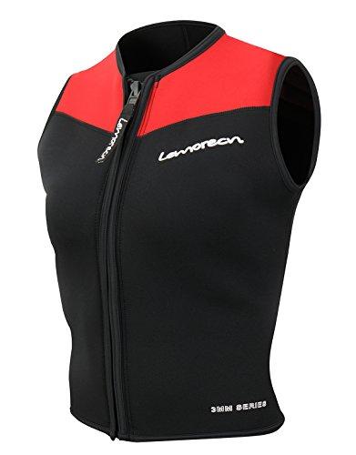 Lemorecn Wetsuits Top Premium Neoprene 3mm Zipper Diving Vest - Wetsuit Sleeveless