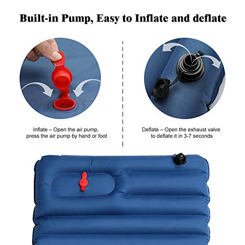 Airbed Sports Inflates /& Deflates Portable Foot Air Pump for Pool