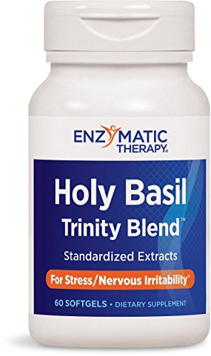 Enzymatic Therapy Holy Basil (Enzymatic Therapy Holy Basil Trinity Blend 60 Softgels (Pack of 4 bottles))