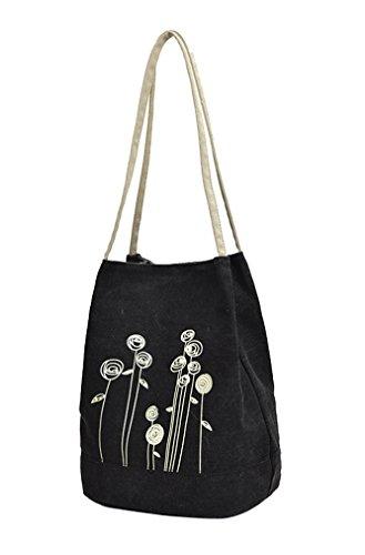 Lonson Women's Shoulder Bag Handbags Canvas Weekend Shopping Tote Bag ()