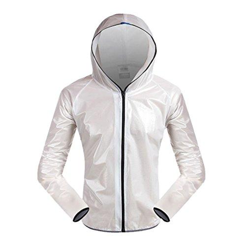 Pantaloni Antiacqua Top Giubbotto Bici Giacchetto Bianco Antipioggia Giacca Impermeabile Antipioggia WanYang q4Ux1ww