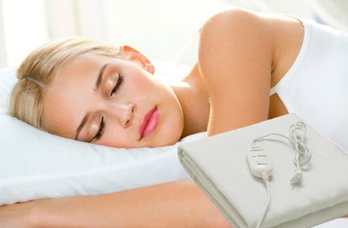 Manta electrica calienta camas 150x80cm 60w selector temperatura sueño y relax .: Amazon.es: Hogar