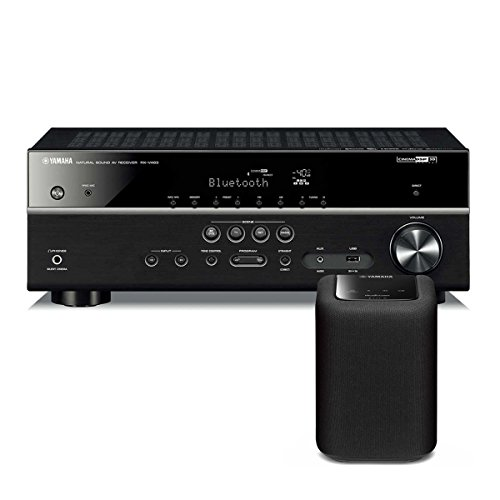 Price comparison product image Yamaha RX-V483 5.1 Channel AV Network Receiver with Wi-Fi and Bluetooth with WX-010 MusicCast Wireless Speaker (Black)