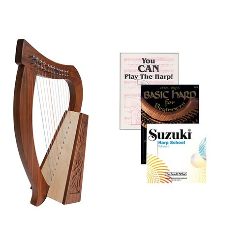Homeschool Music Baby Harp w/Introduction to Harp Book Bundle + Suzuki Harp School CD, Volume 1 by Homeschooling Harps