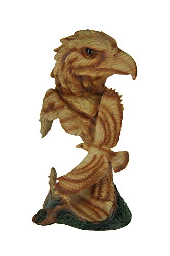 Everspring Faux Carved Eagle Head and Flying Eagle Wood Look Statue
