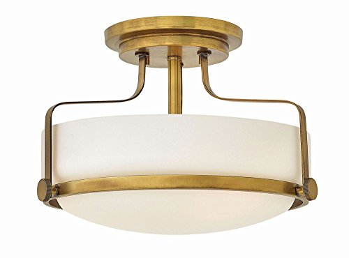 Hinkley 3641HB Transitional Three Light Semi Flush Mount from Harper collection in ()