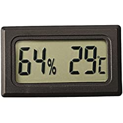 Ray-JrMALL Mini Digital Temperature Humidity Meter Gauge Thermometer Hygrometer LCD Degree Celsius(C) Display Black