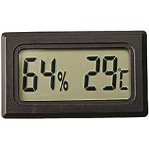 Mini Digital Temperature Humidity Meter Gauge Thermometer Hygrometer LCD Degree Celsius(C) Display Black