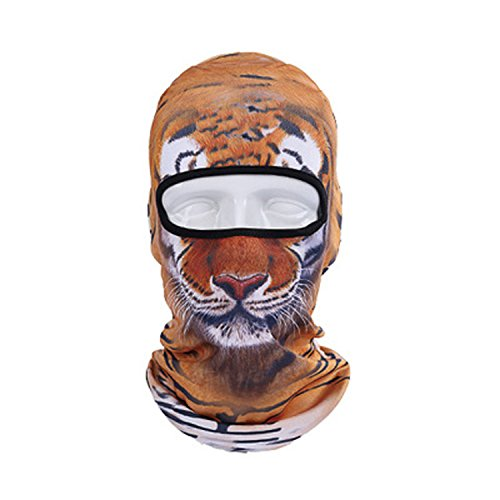 3D Cute Animal Outdoor Skis Hat Balaclava Sports Cat Dog Tiger (9)