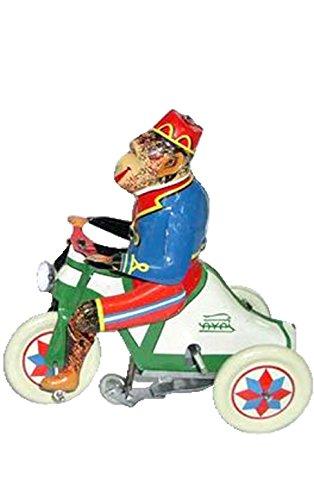 tin wind monkey rider collectible