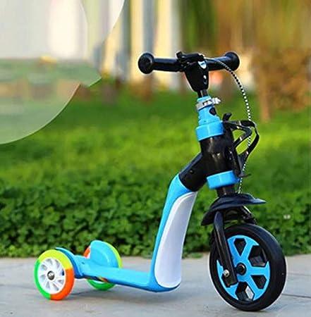 Amazon.com: SAN_Q - Patinete infantil con tres ruedas y dos ...