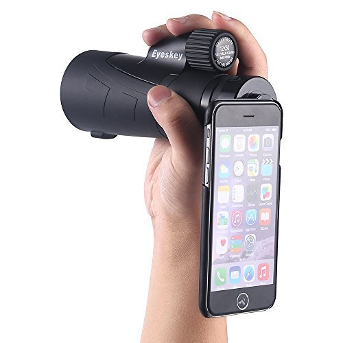 12x50Waterproof Monocular With Hand Strap Come with Tripod and Adapters for iPhone 6Plus / 6SPlus (not iPhone6 or iPhone6s)