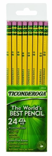 Ticonderoga No. 2 Soft Pencils, Twelve 24 Count Hang-Tab Boxes, Total 288 Pencils - (Wood-Cased, Black Writing) in Yellow (13924) by Dixon (Image #3)