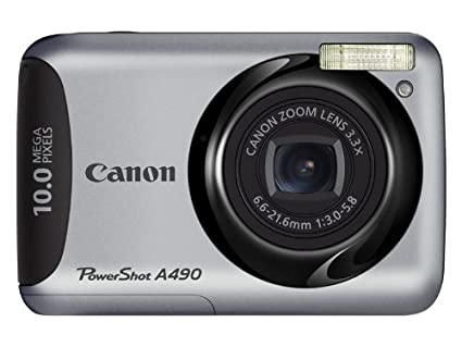 amazon com canon powershot a490 10 0 mp digital camera with 3 3x rh amazon com canon powershot a490 instruction manual canon powershot a490 manual