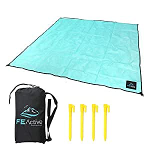 FE Active - Sand Free Blanket with Extra Large Dimensions and Includes Compact Lightweight Sand-Free Beach Carry Bag | Designed in California, USA