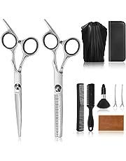 Asdirne tijeras para cortar cabello, kit de corte de cabello peluquería 9 con estuche, acero inoxidable de primera calidad, afiladas profesionalmente, para peluquería, salón, hogar