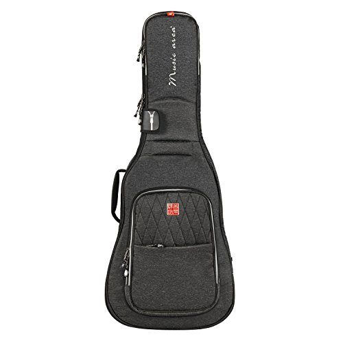 Music Area TANG30 Classic Guitar Gig Bag Waterproof 30mm cushion Protection Patented - Black