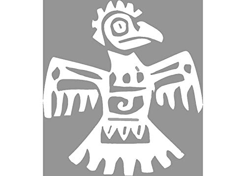 Eagles Ribbon Magnet - ION Graphics Magnet Eagle - White Aztec Eagle Vinyl Magnet - Eagle Vinyl Magnet - History - Perfect Aztec Culture Gift - Made in The USA Size: 4.000