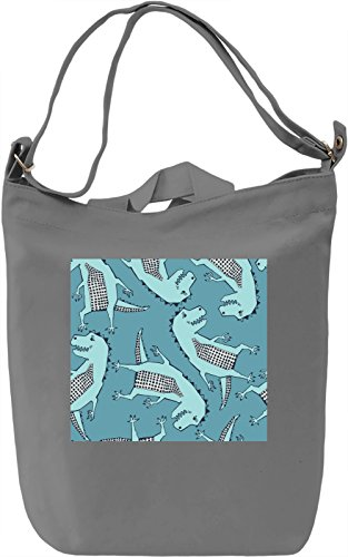 Dragon Print Borsa Giornaliera Canvas Canvas Day Bag| 100% Premium Cotton Canvas| DTG Printing|
