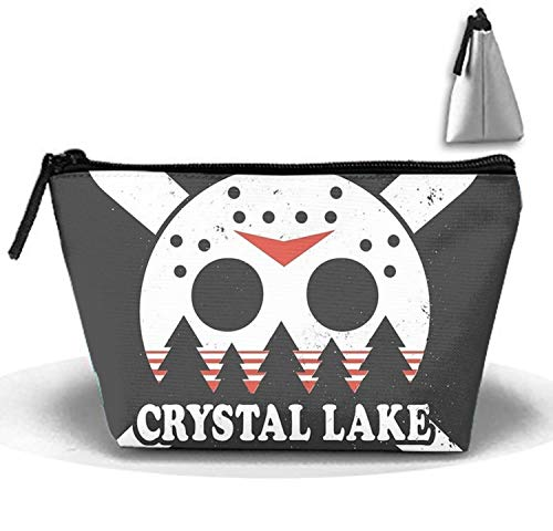 Trapezoidal Cosmetic Pouch Summer 1980 Skull Clutch Makeup Bag ()