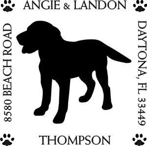 quare Return Address Stamp (Retriever Dog Stamp)