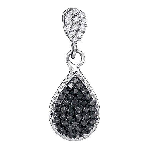 Black Diamond Cluster Pendant - 7