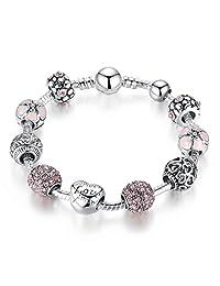 Presentski Amor Love Charm Bracelet for Girlfriend Birthday Gift