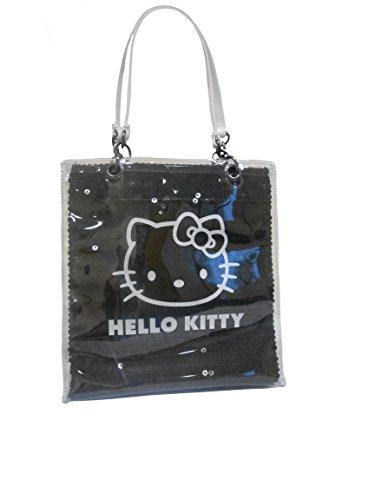 Hello Black Small Black Handbag amp; White White Kitty Hello amp; Sequinned Shiny Kitty UxwqfxAYE