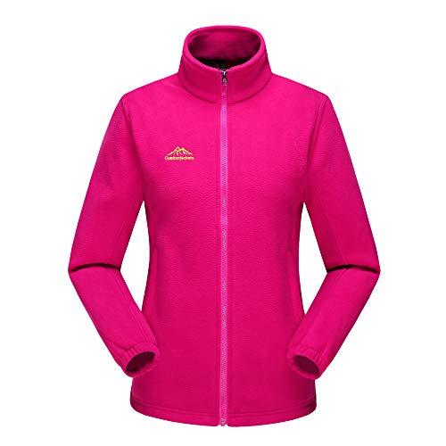 Toimoth Women Full Zip Fleece Jackets Pockets Soft Polar Fleece Coat Jacket Fall Winter Outdoor (Hot Pink,M) ()