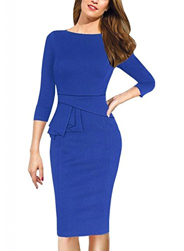 Sunblume Womens Solid Bodycon Cocktail