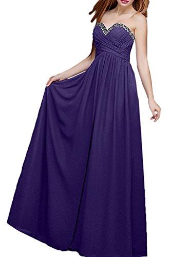mia Brautmutterkleider Chiffon Regency Grau Festlichkleider Steine Herzausschnitt Braut Abendkleider La Ballkleider 86RdxHH