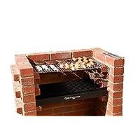Grillkamin BKB400 Grill-Set groß schwarz Grilloven Garten ✔ Grillen mit Holzkohle