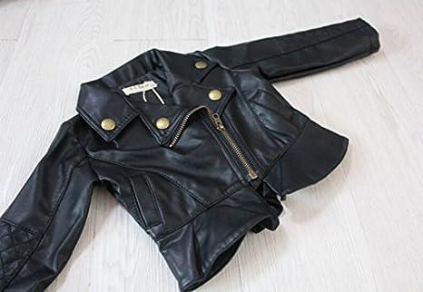 Amazon.com: Spring Autumn Baby Girls Motorcycle Jackets PU Leather Coat Bike Blazer: Baby