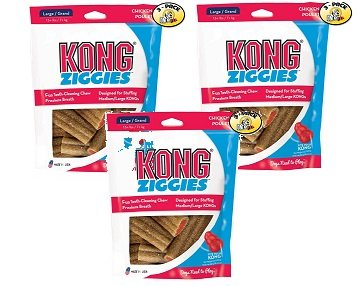 KONG Stuff'N Ziggies Large Dog Treat, 8-Ounce (Pack of 3)