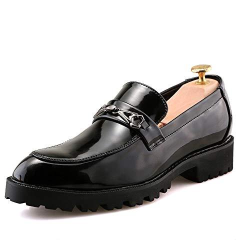 da Stringate Dimensione 43 Oxford Spessa 2018 Business Xujw tonda Punta Moda shoes casual Nero EU Color Scarpe Pelle uomo formali Basse Nero Scarpe wFC0fqx