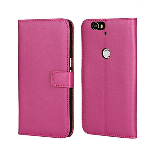 Trumpshop Smartphone Carcasa Funda Protección para Huawei Honor 5C + Negro + Ultra Delgada Cuero Genuino Caja Protector con Función de Soporte Ranuras para Tarjetas Crédito Choque Absorción Violeta