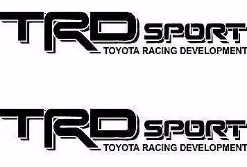 Toyota TRD Sport Black Tstick Black Color Decals Vinyl Stickers Graphics Letters Side Pickup Tacoma 4X4 Racing Development Truck Auto Car Compatible Design Fit Use for