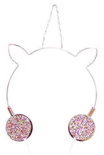 Cheap American Jewel Unicorn Headphones Rose Gold for cheap